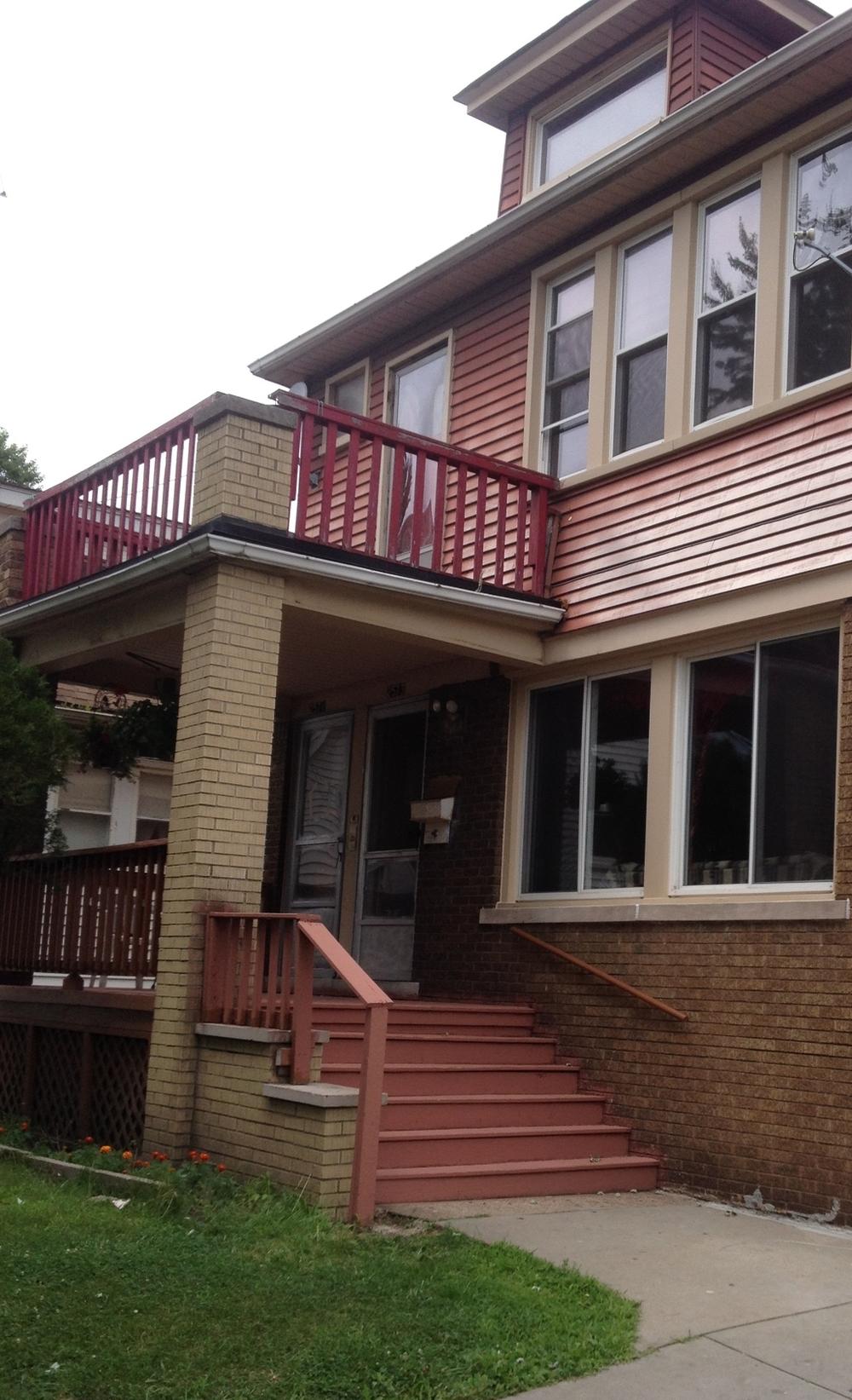 My upstairs flat, 2571 Woodmere