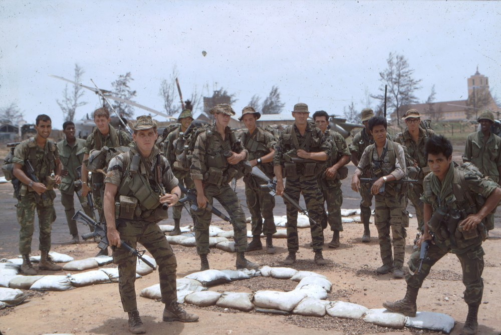Two Ranger teams, Vietnam (me left)