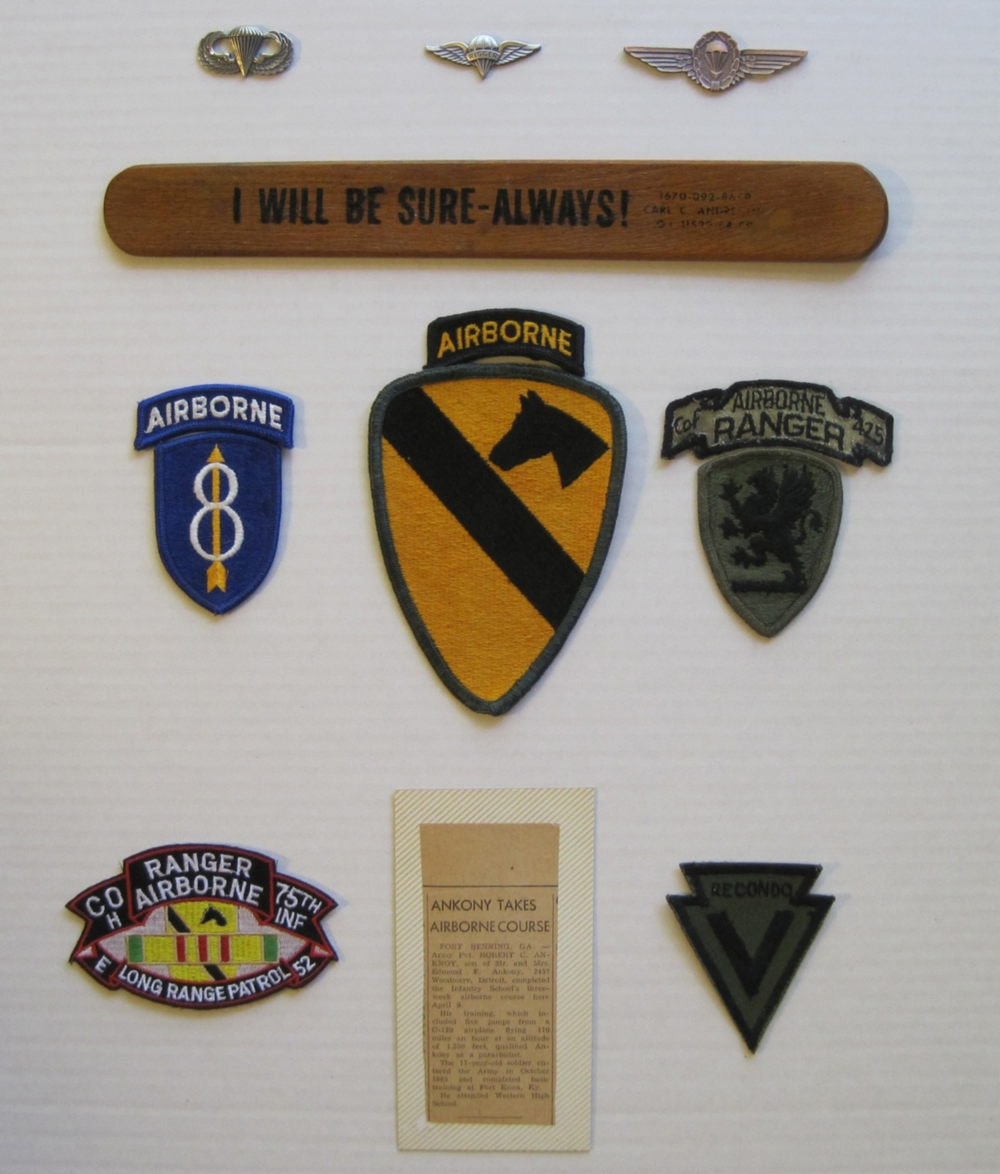 My wings, packing paddle, and unit patches