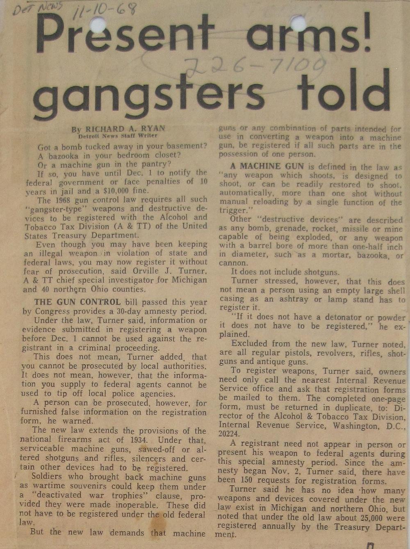 Detroit News, November 10, 1968