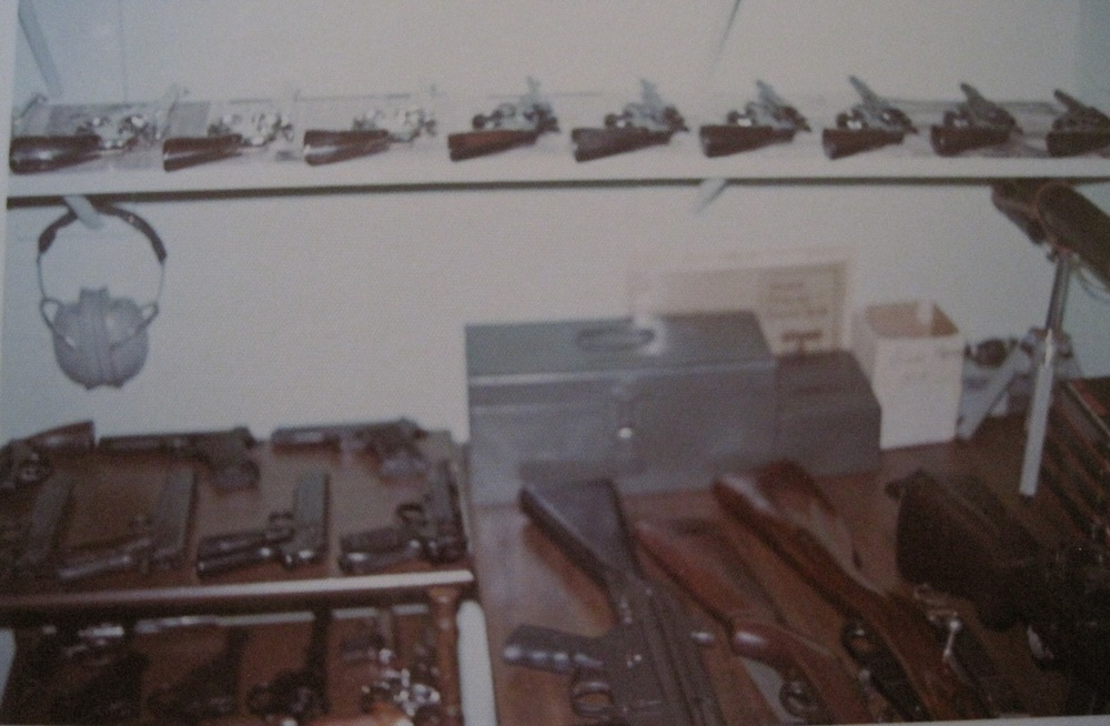 My basement gun room. Note, my two Army .45s at left