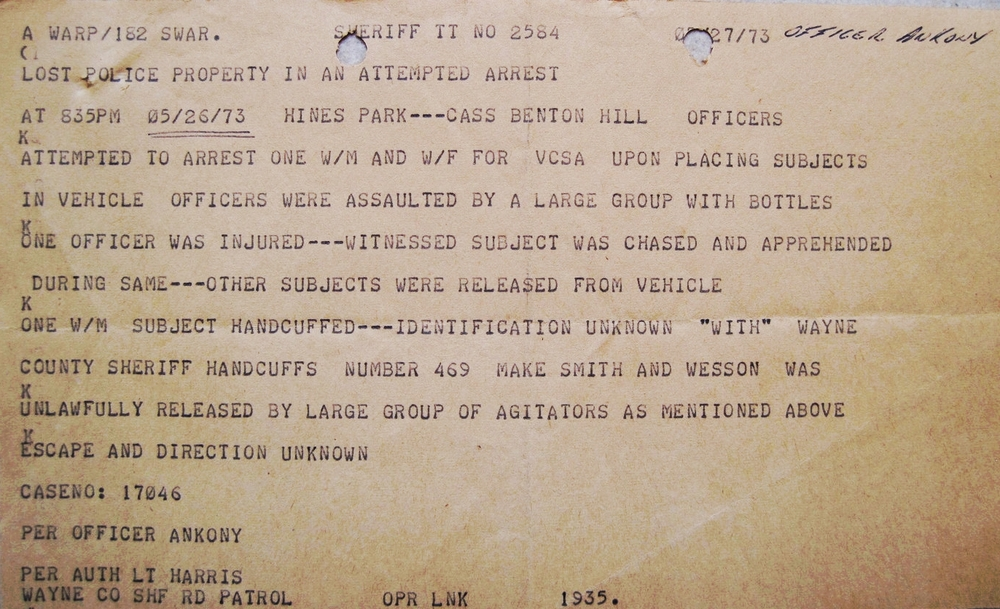 Teletype of our all-points bulletin