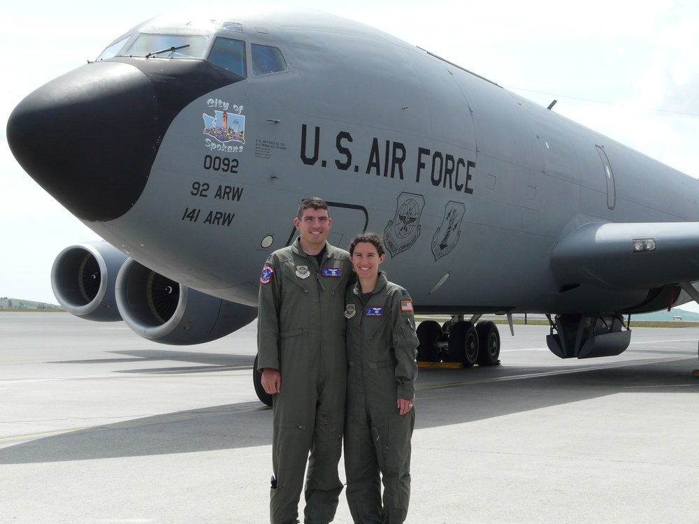 Craig and Catherine and a KC-135
