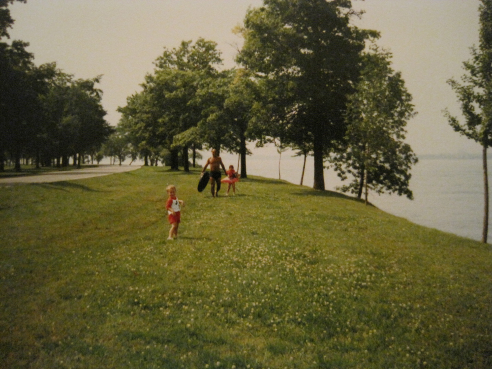 Teaching Catherine and Bobby at an earlier age to brave the Niagara River