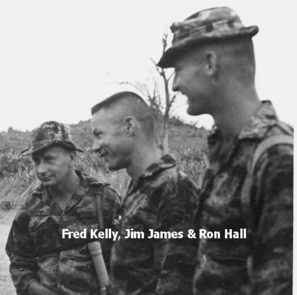 SFC Kelly, CPT  James, and LT Hall