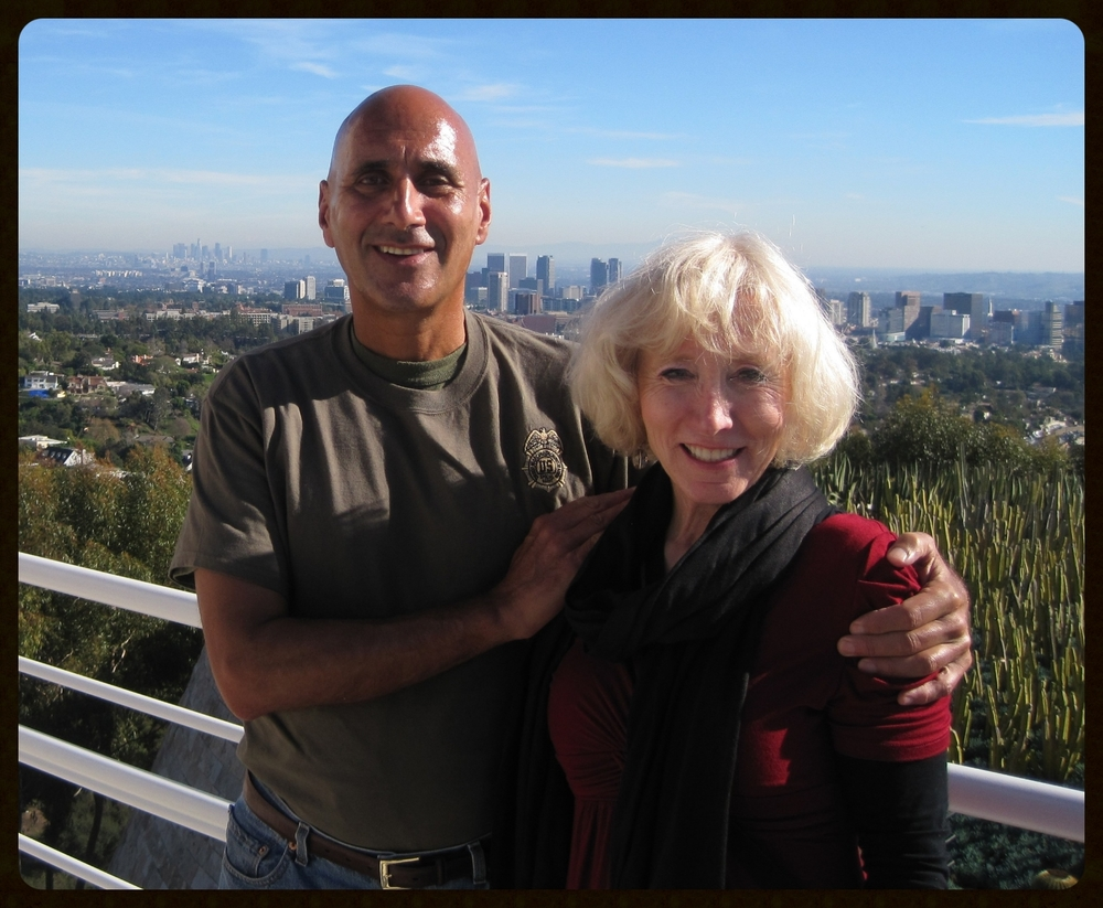 Friday, December 24, 2010. My wife, Cathy, and me at the J. Paul Getty Museum, Los Angeles.