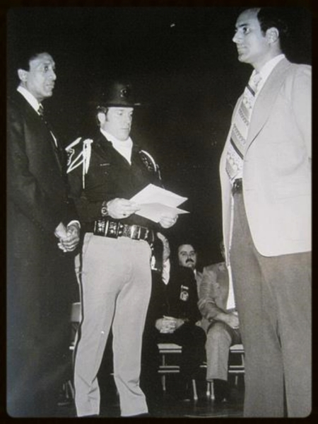 Thursday, March 22, 1979. Award ceremony with Sheriff William Lucas and Deputy William Chapaton. Throughout my career I was suspended four times, yet I was also one of the most decorated officers in our 1,200-man department. This included a Departmental Citation of Valor for repeated attempts to rescue two youths trapped in an overturned automobile in a frigid, fast-flowing river at night. Two Departmental Citations, one for tracking two home invasion suspects three miles on foot, the other for leadership in subduing a barricaded gunman who had shot two police officers. And, working narcotics, the Sheriff's Personal Citation for selfless dedication to the goals of the department.