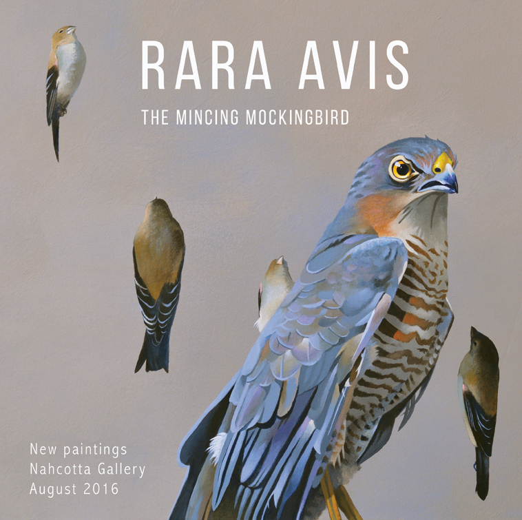 My new solo show Rara Avis opens August 5 at  Nahcotta Gallery  in Portsmouth, NH. I will be in attendance at the opening, which is 5-8 p.m. on August 5.