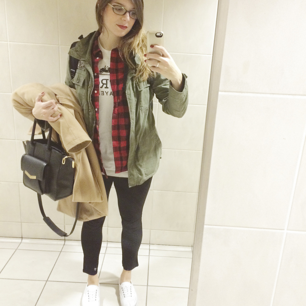 Airport style. Comfy and cozy.