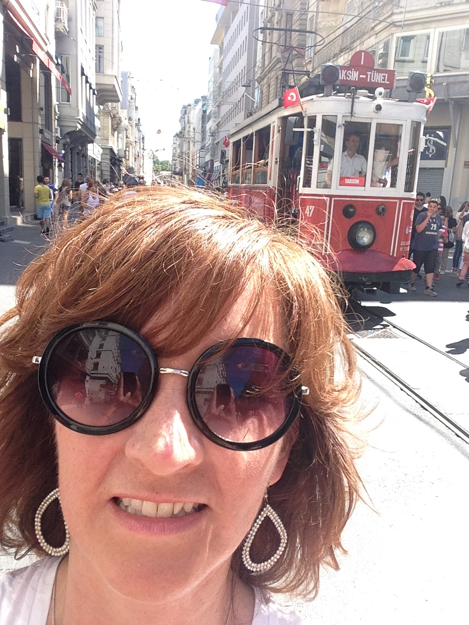 This photo was taken on Istiklal, the well-known pedestrian street in Istabul.