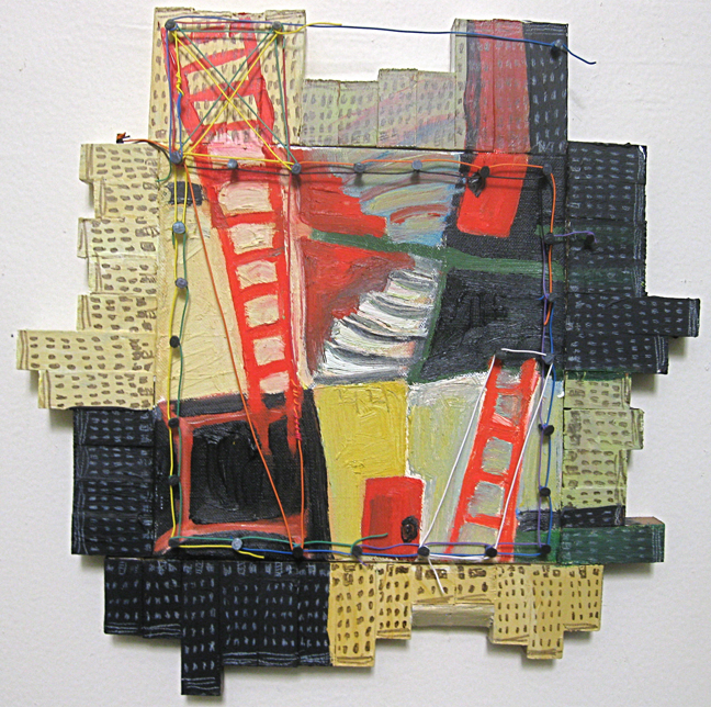 DREAM LANDSCAPE LES #5. oil on canvas with wood framing and acrylic paint, wire, tacks Oct.-Nov. 2012 JPG.jpg