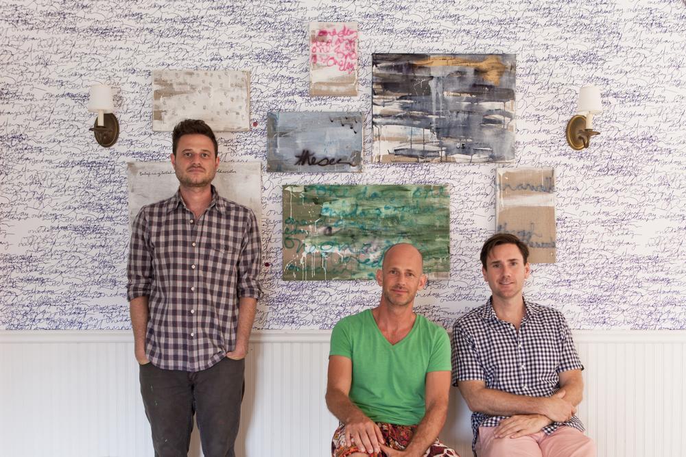 From left: artist Cole Sternberg,designer Moises Esquenazi, Bryan Graybill