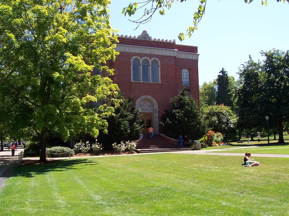 "The ""Quad"" on campus at the center of the University of Oregon"