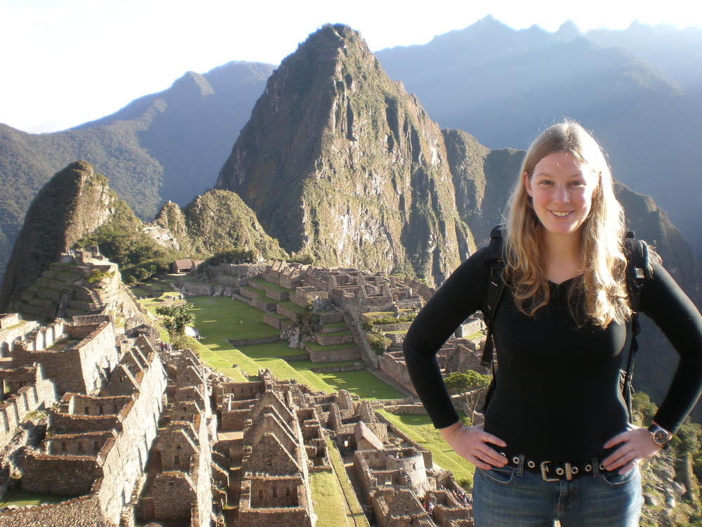 One of the happiest days of my life: at Machu Picchu at dawn, spring 2007.