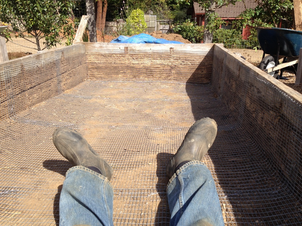 Building a new garden bed.