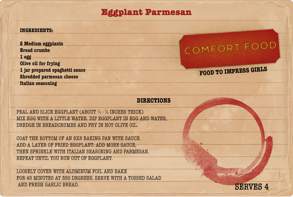 College comfort food recipe from My College Advice: Eggplant Parmesan