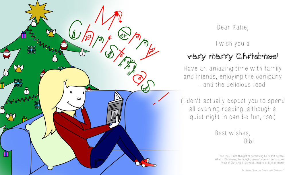 Christmas card from  Bibi