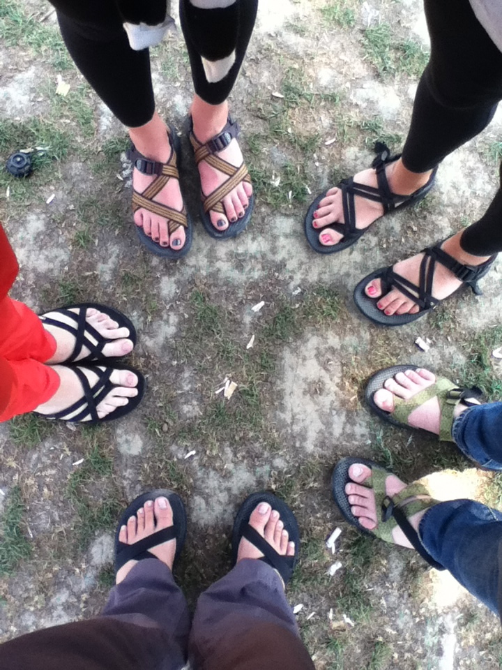 Networking is nothing more than finding a circle of people with the same interests. Or, in this case, a circle of people who all wear adventure sandals in Istanbul.