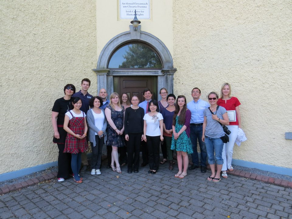 Photo from the summer seminar Human Rights, Migration, and Globalization through the National University of Ireland, Galway summer 2013. 30 points if you can name who I'm standing next to.