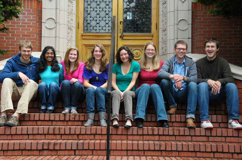 My college best friends, our senior year at the University of Oregon (Steps of the Honors College, spring 2010)