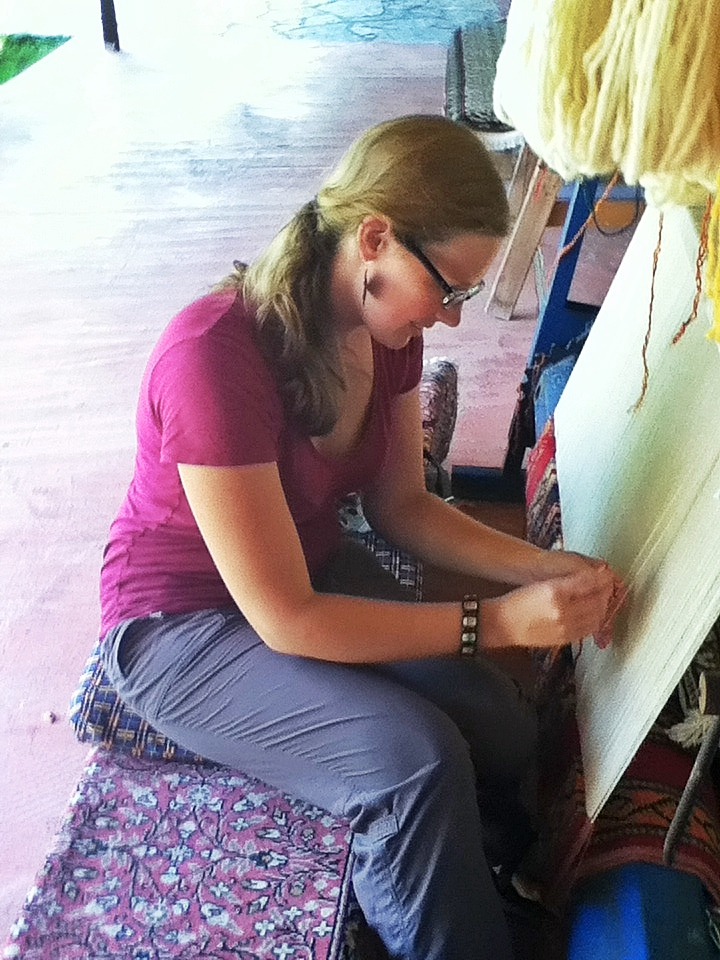 This is a photo of me learning to make a Turkish rug in a small town near Selcuk, Turkey, near the ruins of the city of Ephesus. If I was planning a travel-based gap year at the moment, some kind of archaeology/artisan craft/community engagement travel with accompanying journalism and creative writing would be a top candidate for the year's itinerary. Too bad I'm currently occupied in a quasi-gap year here in Dublin, pursing a different set of passions and opportunities. It's good to keep imagining alternate possible futures...