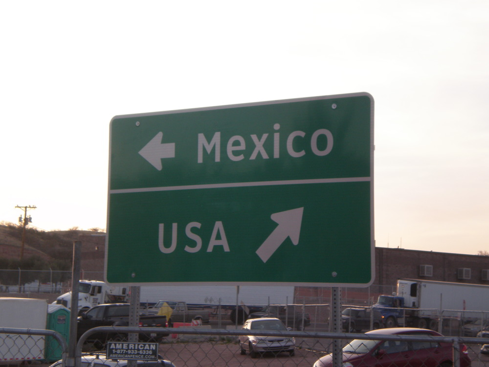 Two directions: a decision at sunset. (Photo taken in Nogales, Mexico at the border of Nogales, Arizona. Spring 2009)