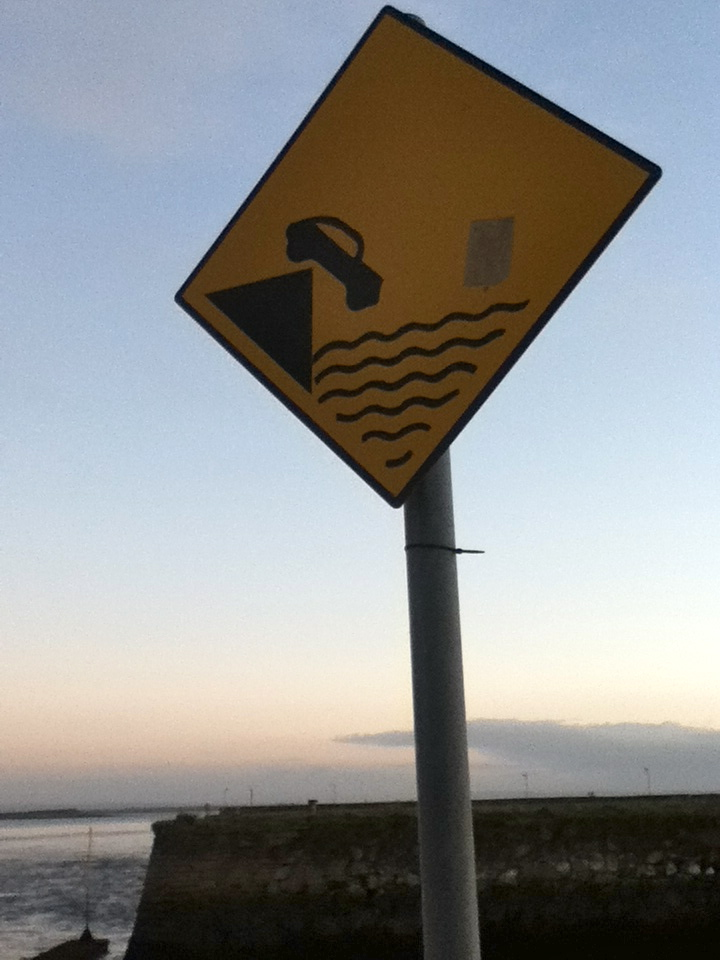 Reasons for preparation before a public speaking event, nicely illustrated by this sign in Galway.