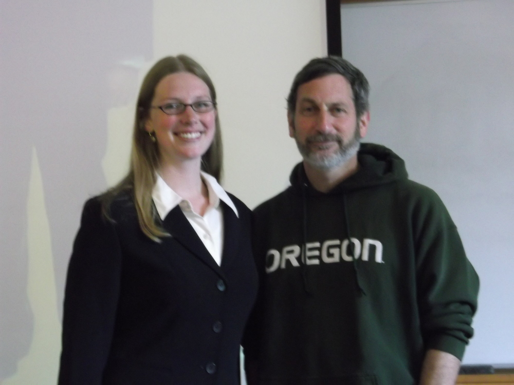 Me and Shaul right after I defended my Master's thesis. (Side note: I'm the one out of uniform there--the Oregon hoodie is his all-occasion outfit.