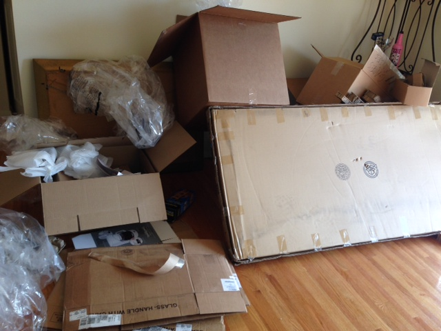 The nightmare detritus of the move.