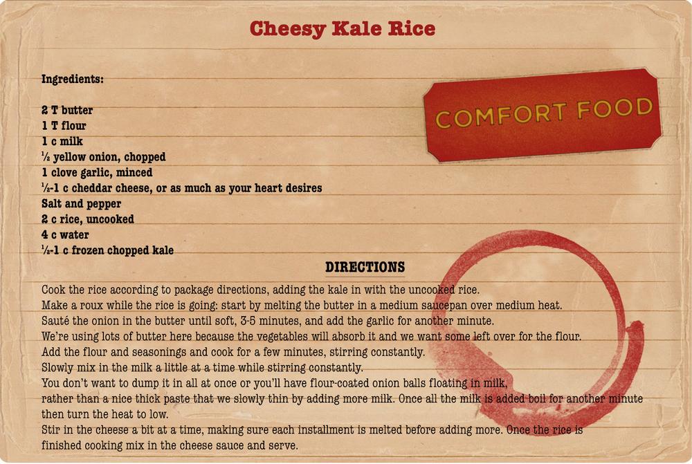 Cheesy Kale Rice Recipe