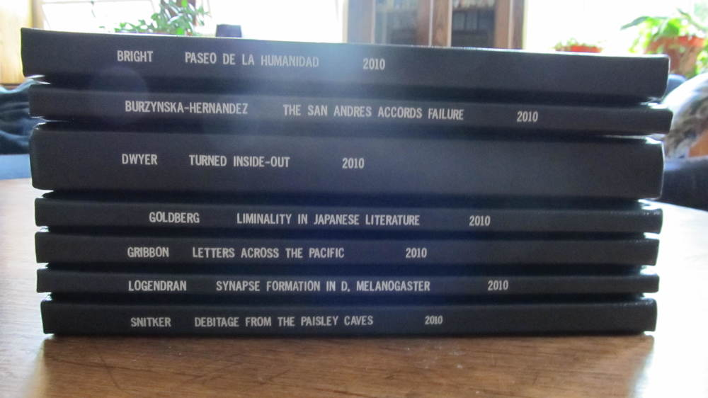 Undergraduate theses written by a group of my friends. All different disciplines, all fascinating topics.