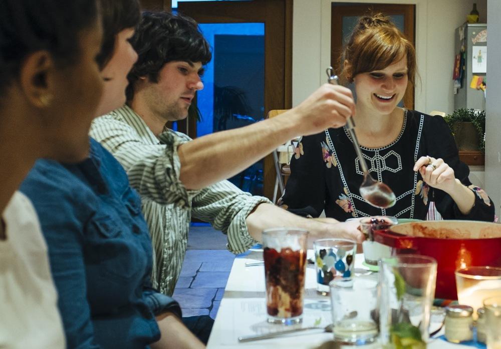 Cath Hosting a Peace meals event