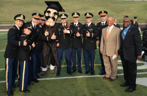 Photo of military students from  Cameron University .