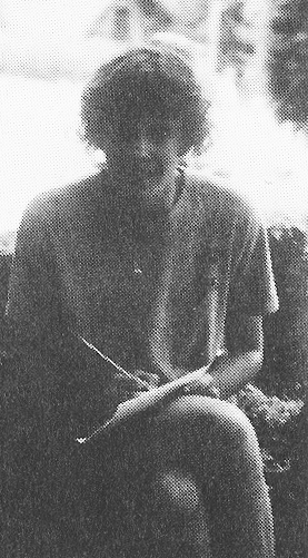 Archival photo of the authorand her necklace at Camp Yonahlossee,circa 1985.