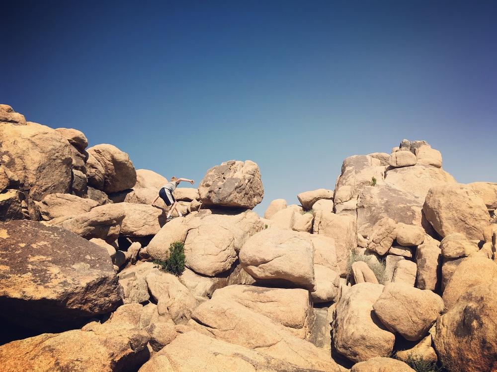 Little boy, big boulders.