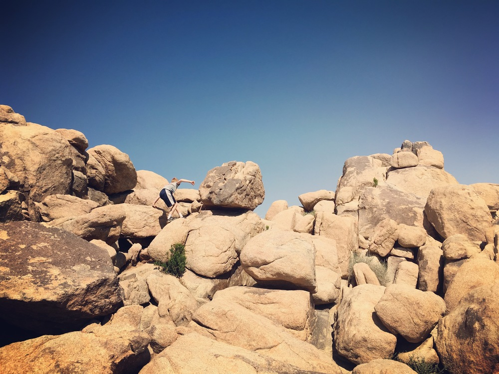 Little boy, big boulders.