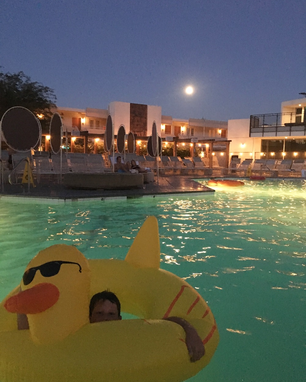Happiness is a giant rubber ducky.