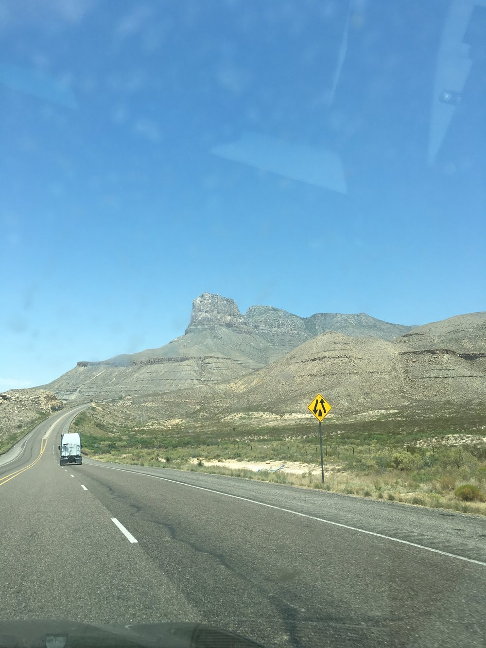 New Mexico's El Capitan and one of my favorite windshield photos!