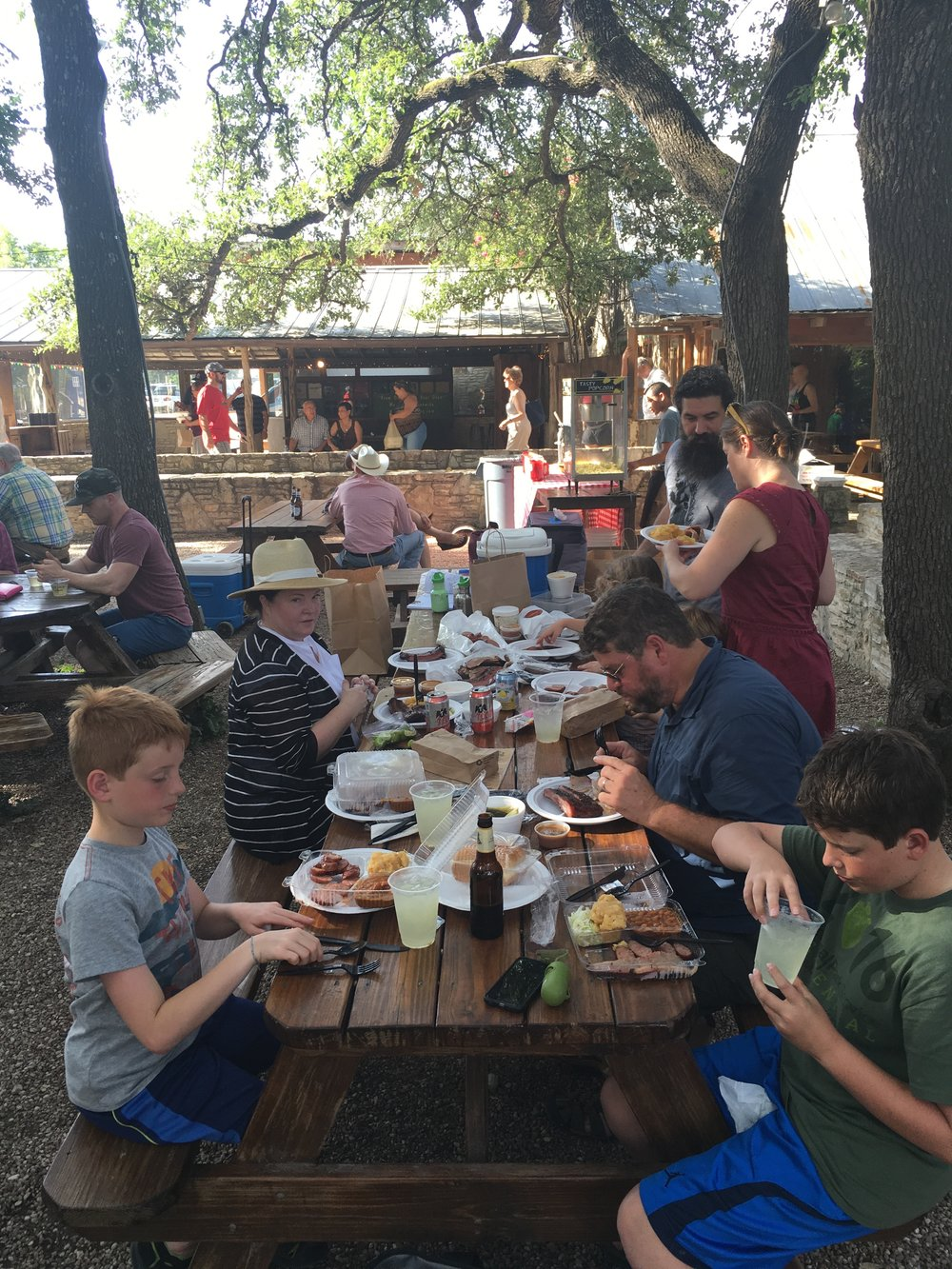 Chowing down, again, this time at The Salt Lick.