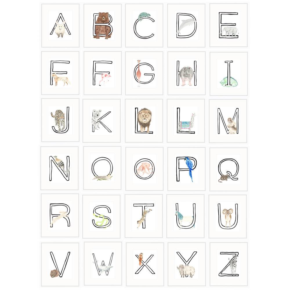 a z letter prints louise dean design llc