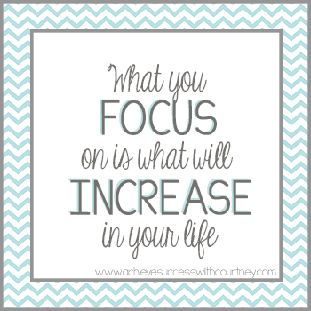 What you focus on increases