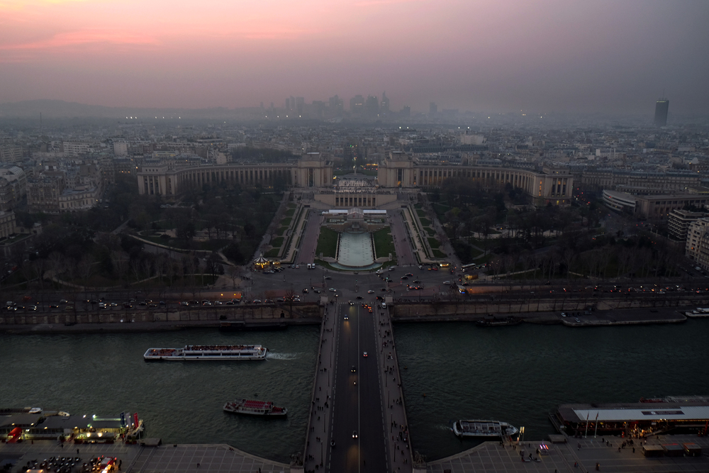 View from the Eiffel Tower over Paris