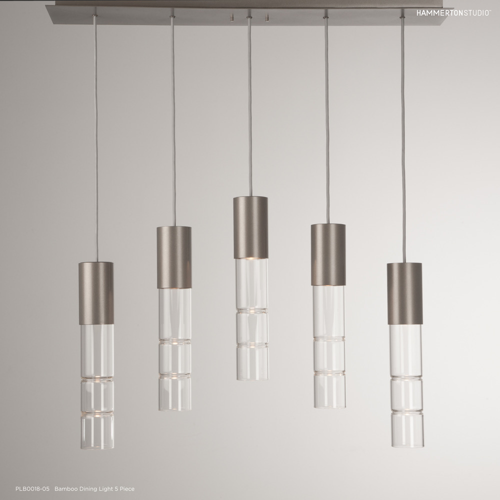 Bamboo Multi-Port Chandelier by Hammerton Studio