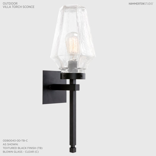 Outdoor Villa Torch Sconce ODB0043 0D - outdoor shop lights
