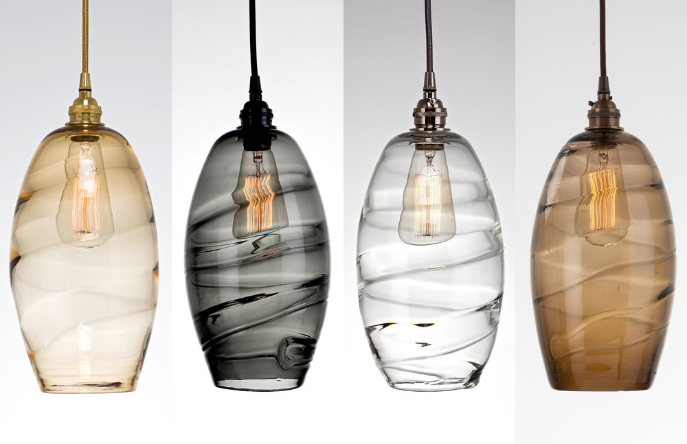 Ellisse Hand Blown Glass Lighting by Hammerton Studio