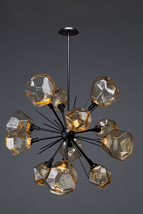 Artisan blown glass lighting hammerton studio hand blown glass gem starburst by hammerton studio aloadofball Choice Image