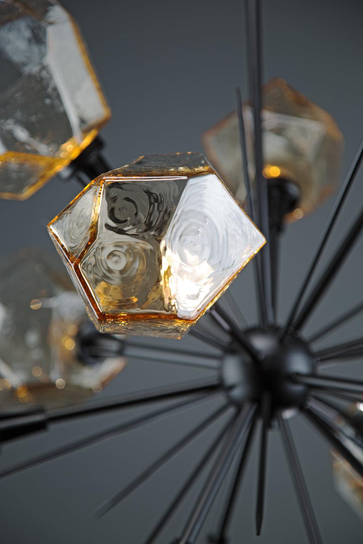 Amber hand blown glass by Hammerton Studio