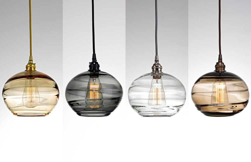 Coppa Hand Blown Glass Lighting by Hammerton Studio