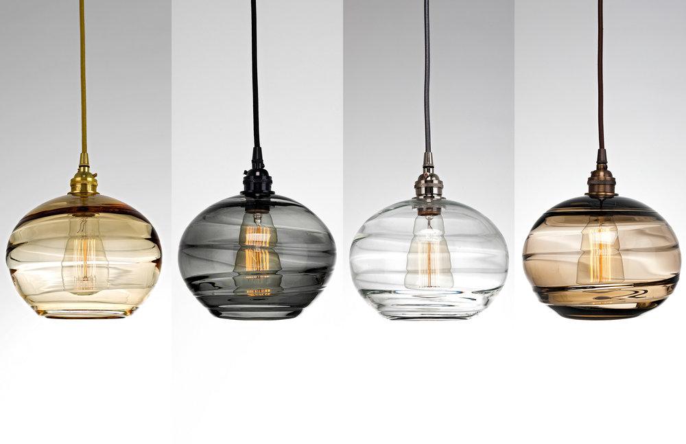 Coppa Hand Blown Glass Lighting By Hammerton Studio
