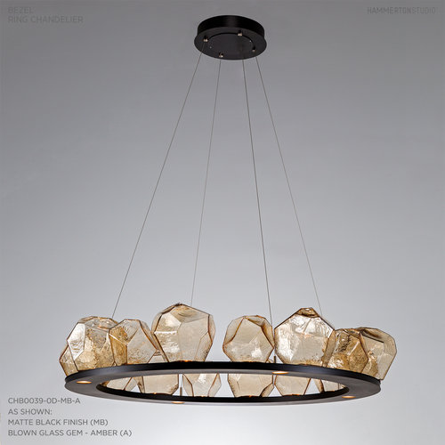 16 Gem Ring Chandelier CHB0039 0D — Hammerton Studio